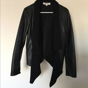 Urban outfitters faux leather coat
